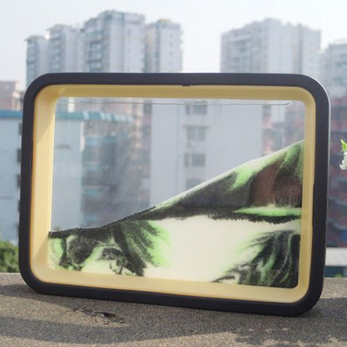 landscape scenery moving sand glass picture frame home desk decor xmas gift ebay - Moving Picture Frames