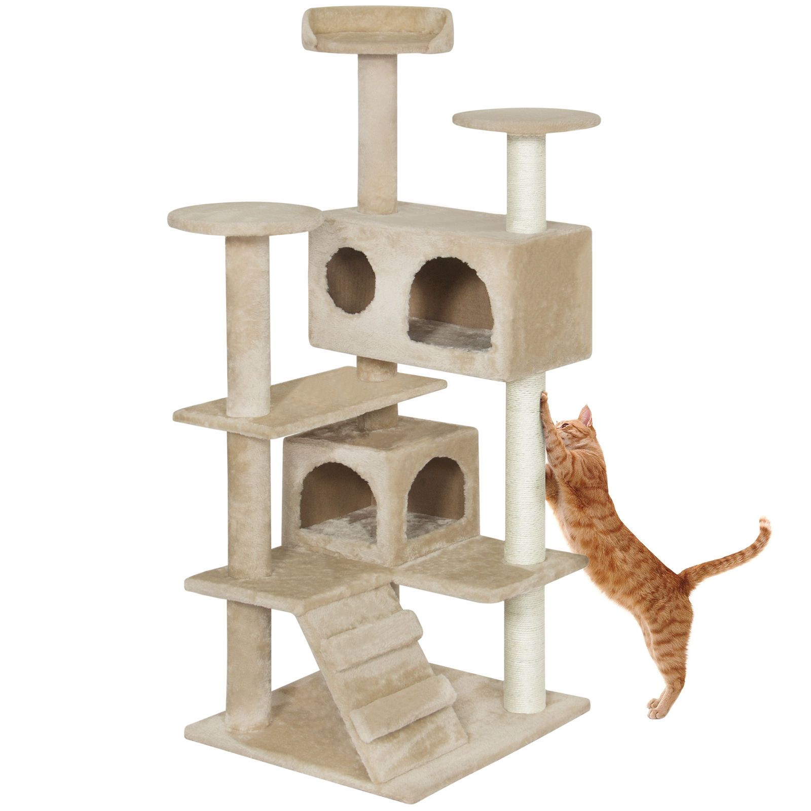 Cat Tree House Stand Playground Activity Condo Set Tower Scratching Posts Sale Ebay House