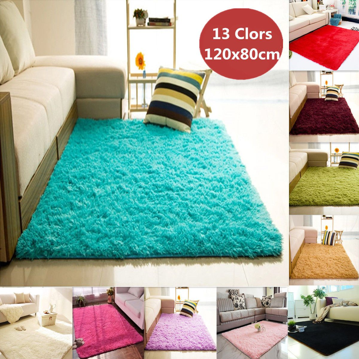 how to clean a white fluffy rug