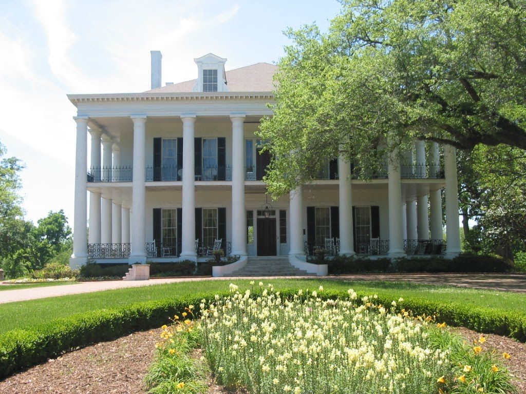 Antebellum Southern plantation home porch mansion