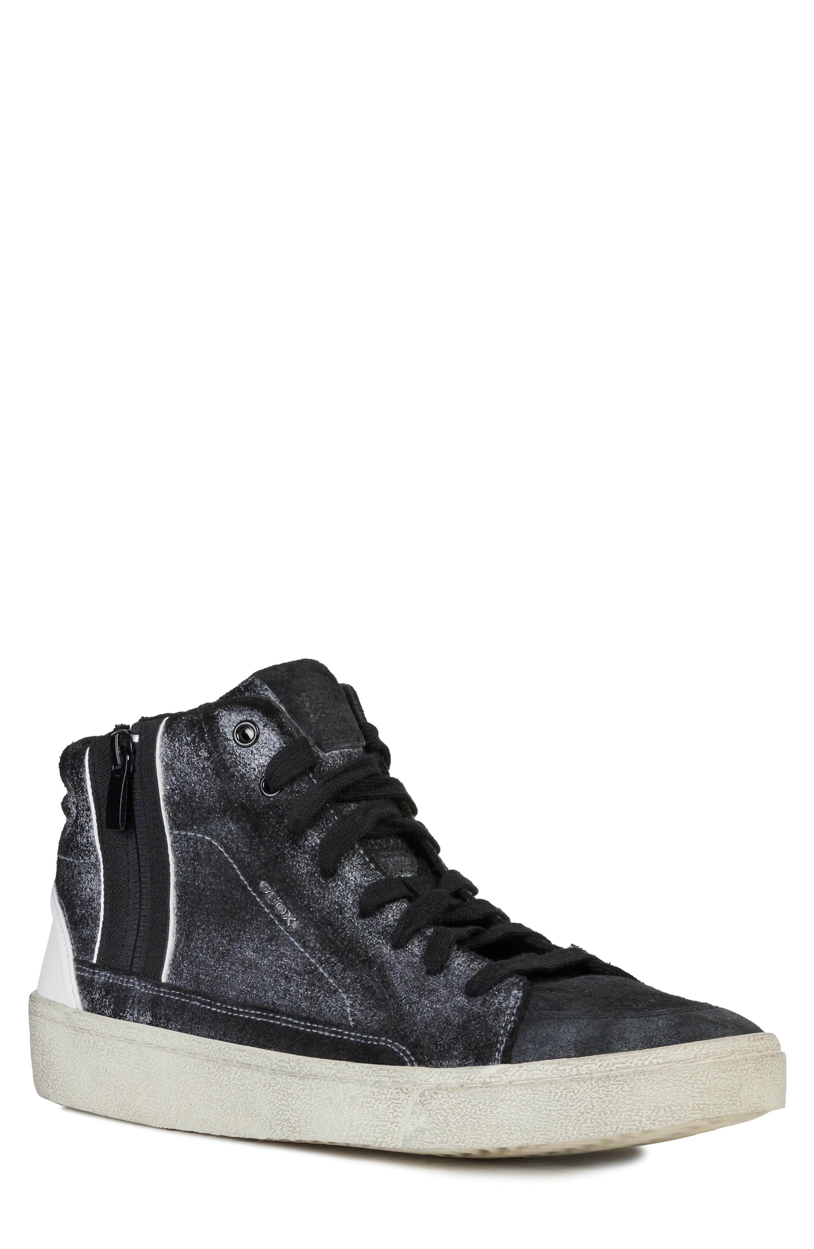 Men's Geox Warley 6 Sneaker, Size 10US 43EU Black