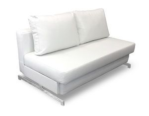 Modern White Leather Textile Queen Sofa Sleeper K432 by