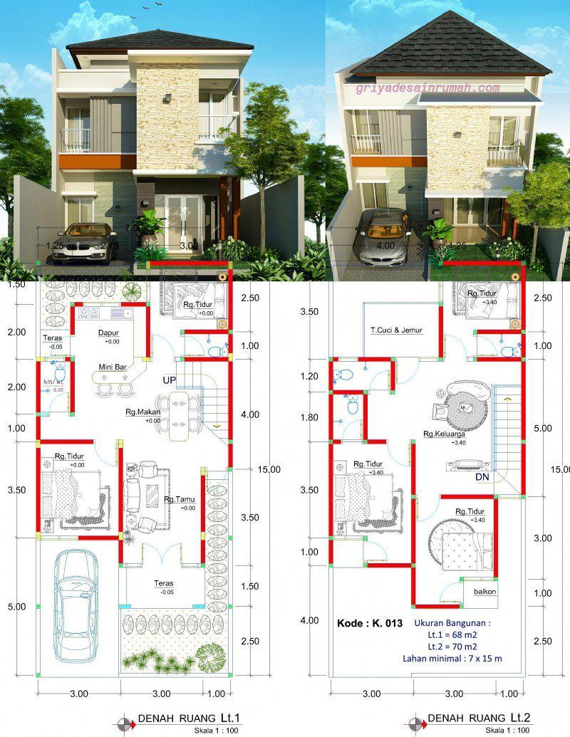 Desain Rumah 2 Lantai Jasa Desain Rumah Planos Di 2019 House