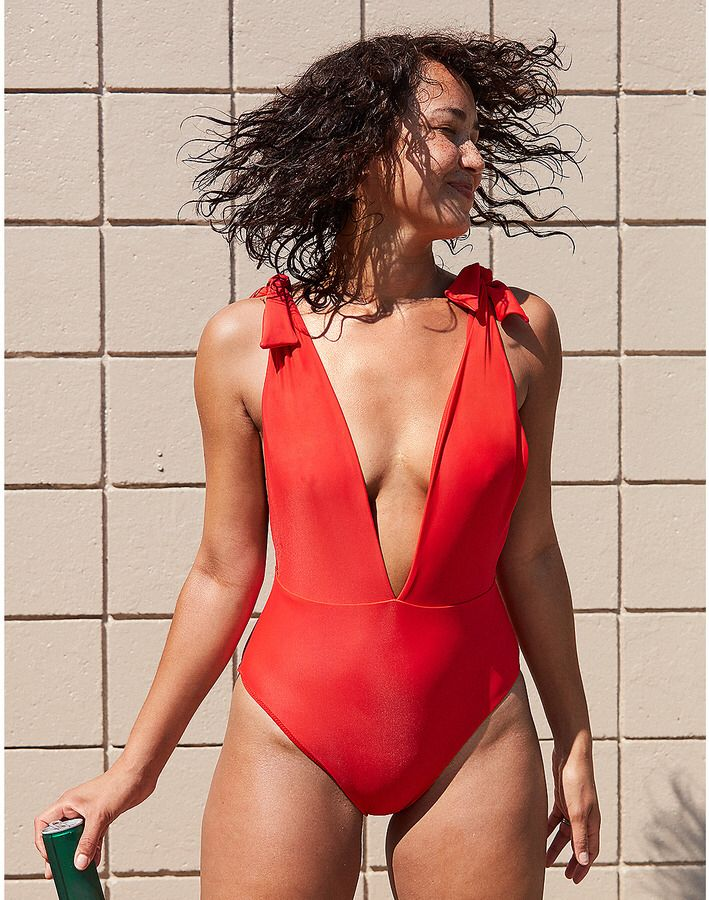 943f2ff4d6ef4 Aerie Tie Strap One Piece Swimsuit | Swimsuits | Swimsuits, One ...