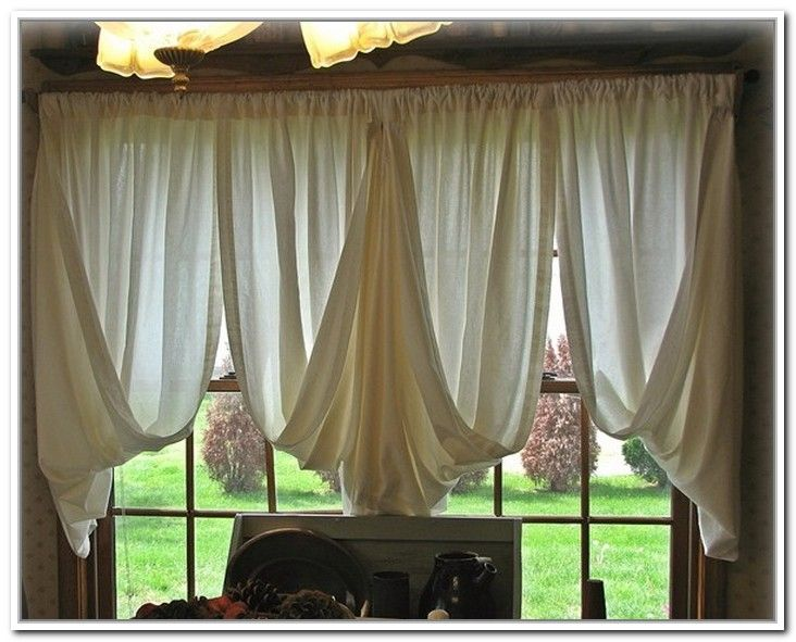 Primitive living room window treatments primitive - Living room picture window treatments ...