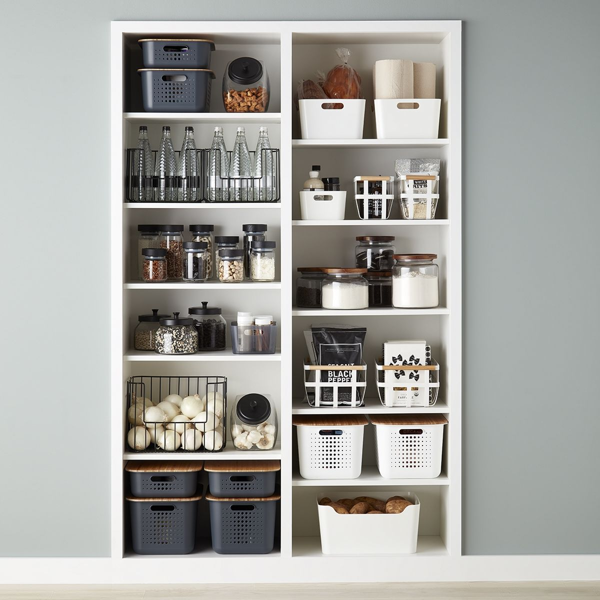 Black And White Pantry Organization Ideas White Pantry Ikea Pantry Organization Pantry Design