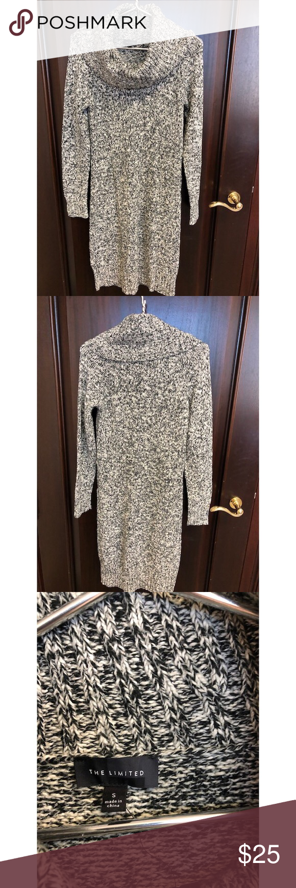 New Limited Marbled Cowl Neck Sweater Midi Dress Sweater Dress Midi Cowl Neck Sweater The Limited Dresses