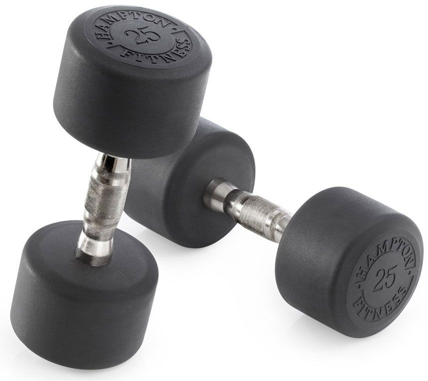 York Dumbbell Exercise Programme: Dura-Pro Round Urethane Dumbbell Sets -- Hampton (DPU