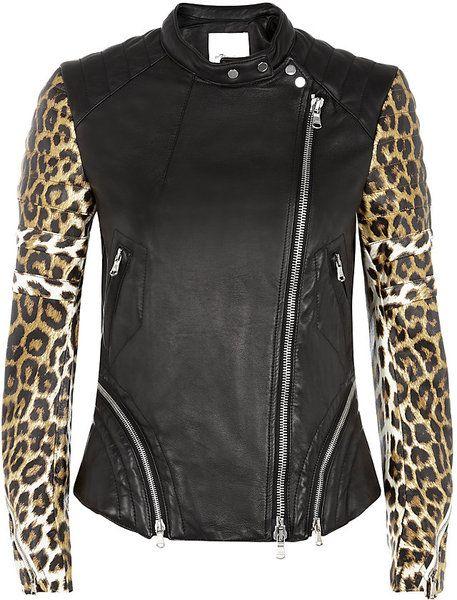 468d1bb373db Need. This. Now. 3.1 Phillip Lim Leopard Print Leather Biker Jacket ...