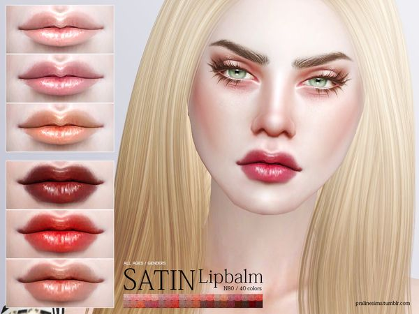 Satin Lipbalm N80 by Pralinesims at TSR via Sims 4 Updates