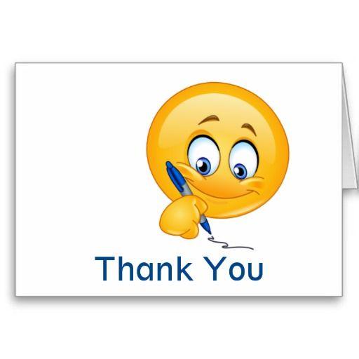 smile thank you greeting card srf zazzlecom thank