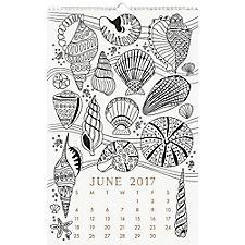 Paper Source Coloring Book Calendar 2017