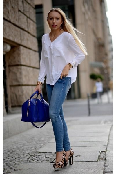 fa2f9431eb Blouse jeans heels   Jean's   Fashion, Jeans with heels, Jeans