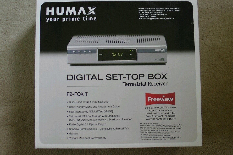 Humax F2 Fox T Digital Freeview Digital Text Modulators Digital