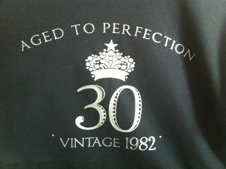Happy 30th Birthday Shirt -- Aged To Perfection, VINTAGE