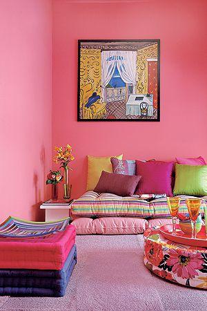 sofazinho de futtons, redondos e quadrados... | Colorfull Homes ...