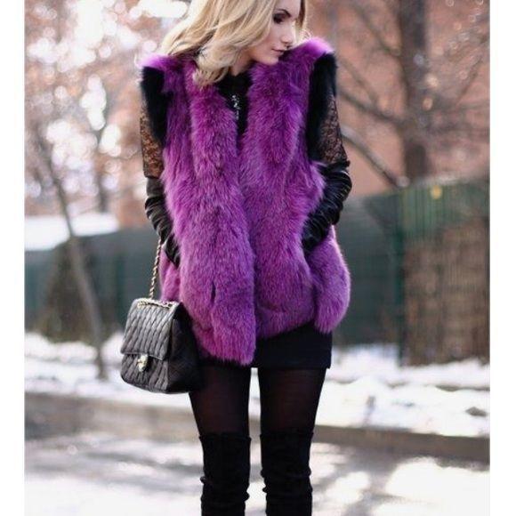 Fun Faux Fur Vest Ich habe diese Weste gekauft, aber nie getragen. Nagelneu ohne Umbau. N   – Mode