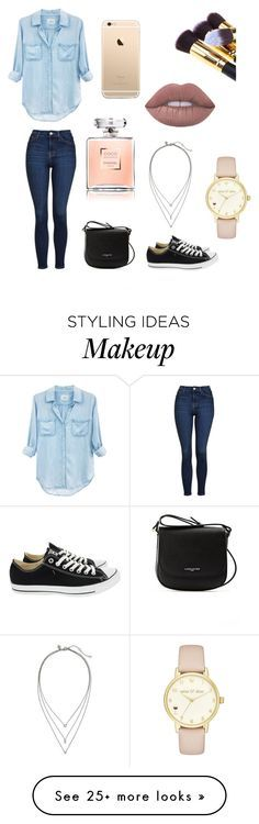 """""""Casual day!"""" by fashionfyou on Polyvore featuring Rails, Topshop, Converse, Lancaster, Banana Republic and Kate Spade"""