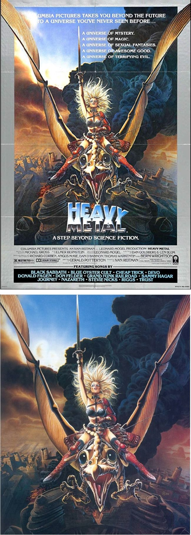 Chris Achilleos Heavy Metal 1981 Columbia Pictures Poster By Imdb Pin By Sonny Heston Heavy Metal 1981 Columbia Pictures Poster