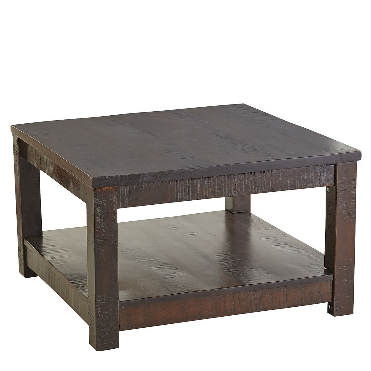 Parsons Tobacco Brown Square Coffee Table Hardwood Table
