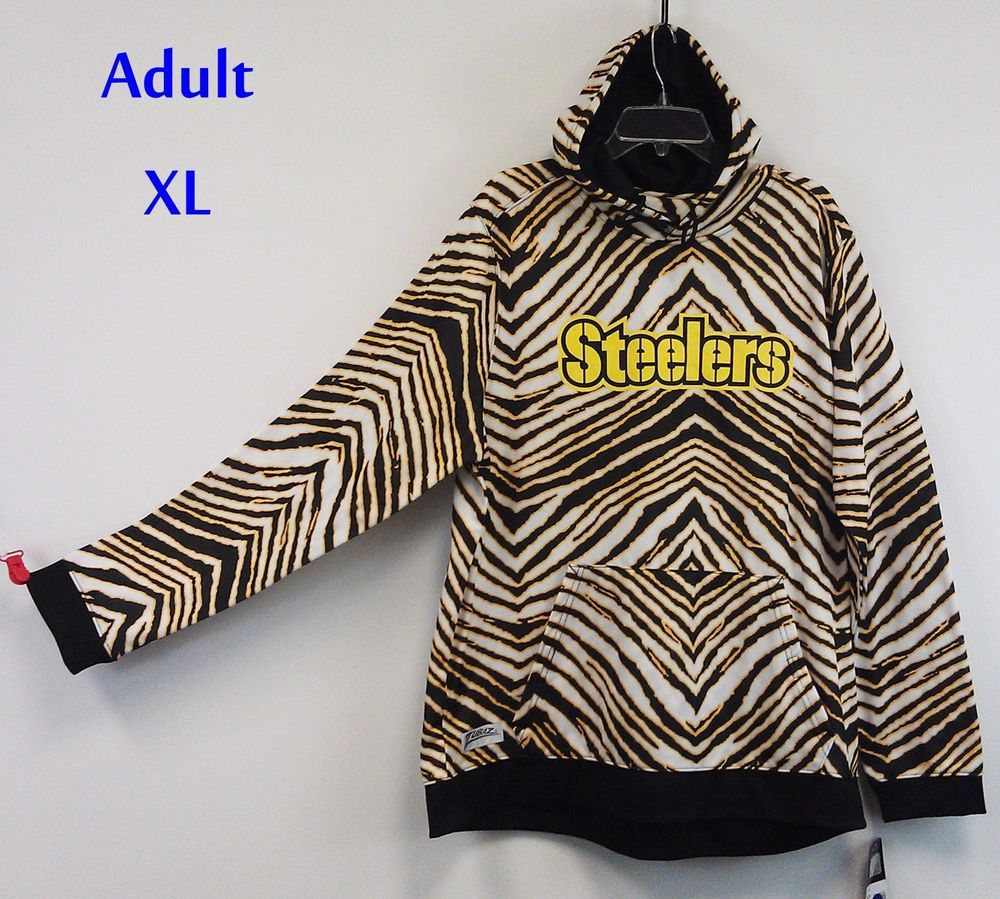 Pittsburgh Steelers Zubaz Hoodie Xl Nwt Pullover Nfl Zebra Print 65 Ret Zubaz Pull Pittsburgh Steelers Football Pittsburgh Steelers Logo Pittsburgh Steelers