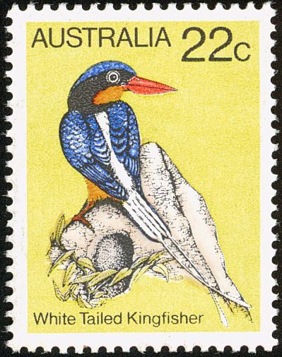 Buff-breasted Paradise Kingfisher stamps - mainly images - gallery format