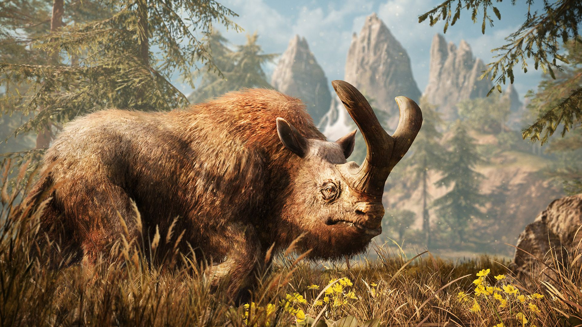 Wooly Brontothere Far Cry Primal Rare Animals Mythological Creatures