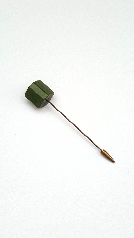 Art Deco Bakelite Hat Pin Green 1930s Vintage Hat Pin Art Deco Pin