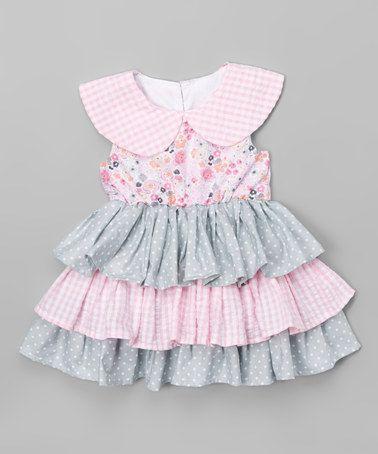 Look at this #zulilyfind! Pink & Blue Floral Katie Dress - Infant & Toddler #zulilyfinds