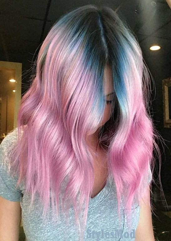 Prettiest Blue And Pink Hair Color Combination For Teenage Girls Fox Hair Dye Hair Color Pink Arctic Fox Hair Dye
