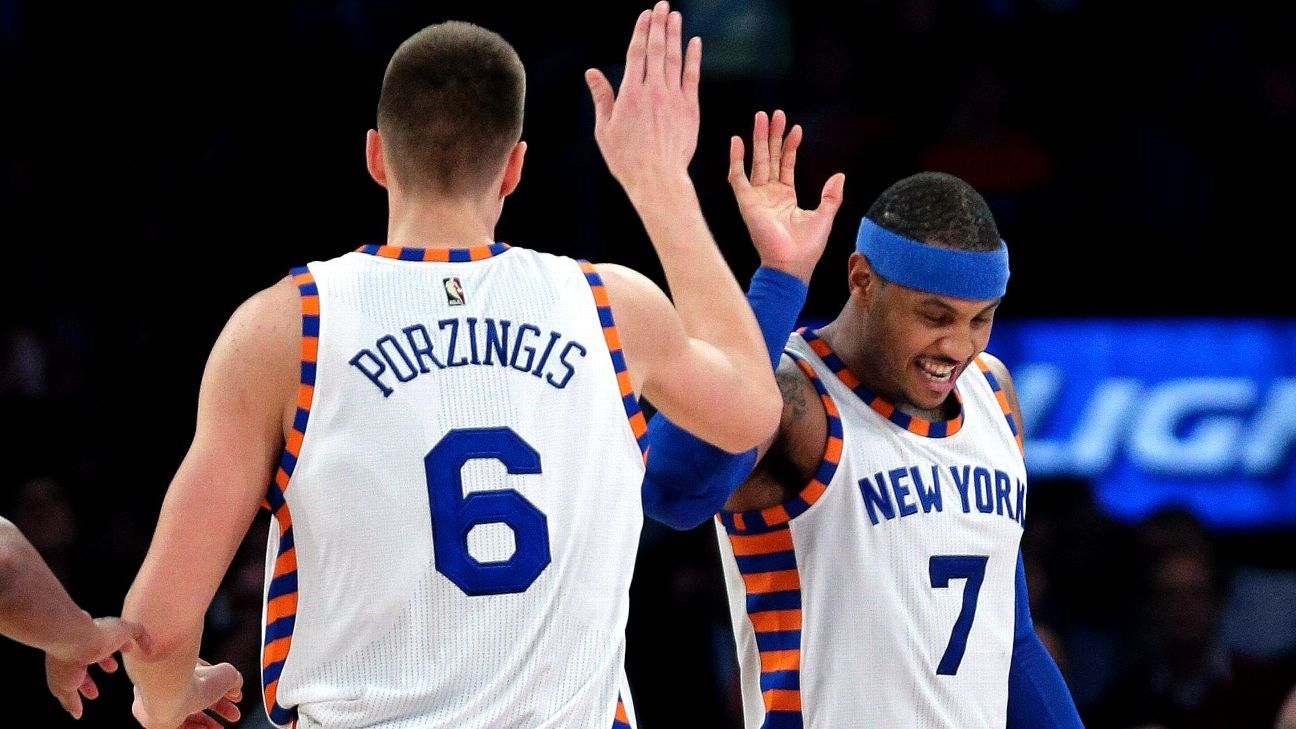 Porzingis rents penthouse in same building as Carmelo's