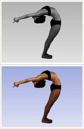 ardhachandrasana half moon pose  bikram yoga  bikram