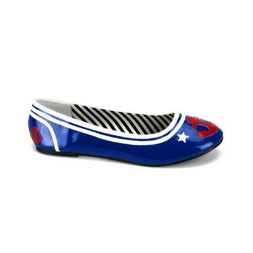 Blue Maryjane Flat Sailor