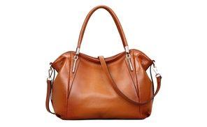 5b796309474 Groupon - Lady Soft Cowhide Leather Vintage Shoulder Bag Handbag - Sorrel  in Abilene, TX. Groupon deal price   75.99