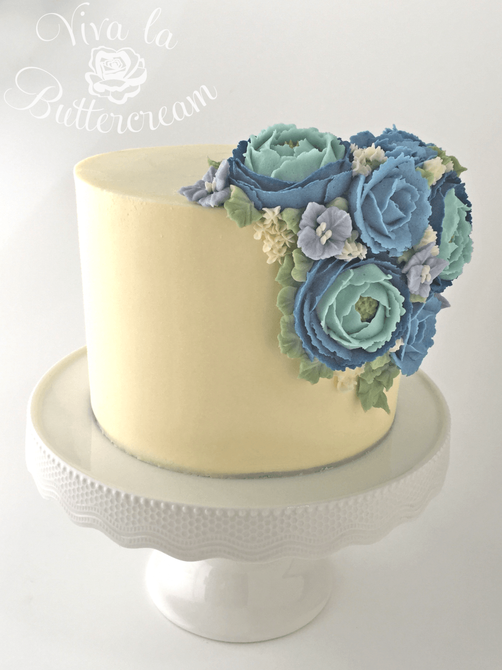 Defying Gravity Attaching Flowers To The Side Of A Cake Butter Cream Cupcakes Decoration Buttercream Roses