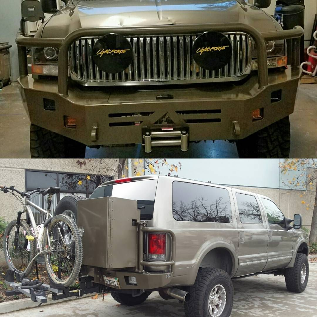 Ford Excursion install of Aluminess front and rear bumpers