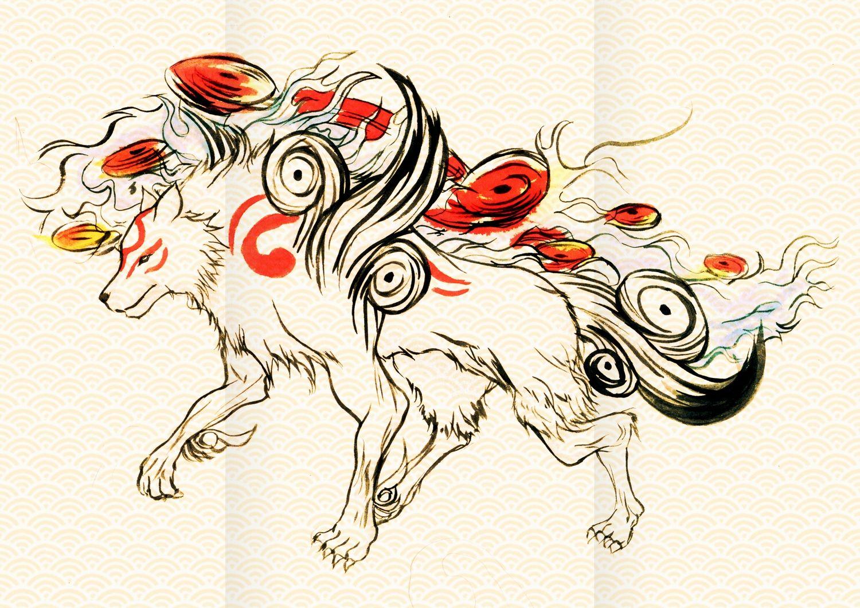 Okami Amaterasu Art Design By Sergevirusx On Deviantart Okami