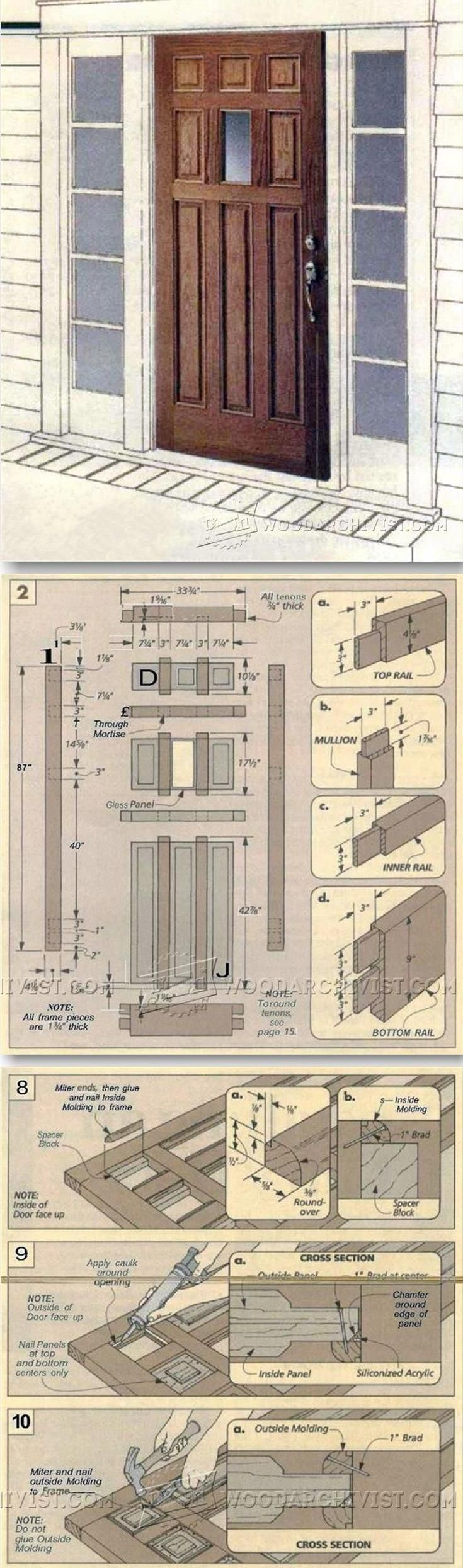 Making Raised Panel Entry Doors Door Construction And Techniques Woodarchivist Com Woodworking Woodworking Projects That Sell Woodworking Plans