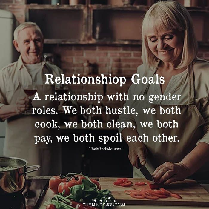 Relationship Goals: A Relationship With No Gender Roles