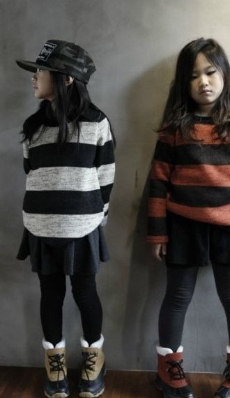 Ssom Stripe Knit Top (2C)