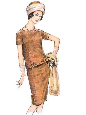 Пуловер и юбка-карандаш   Винтажные швейные выкройки ...