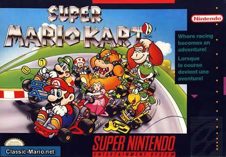 Super Mario Kart Snes Box Cover Video Games Super