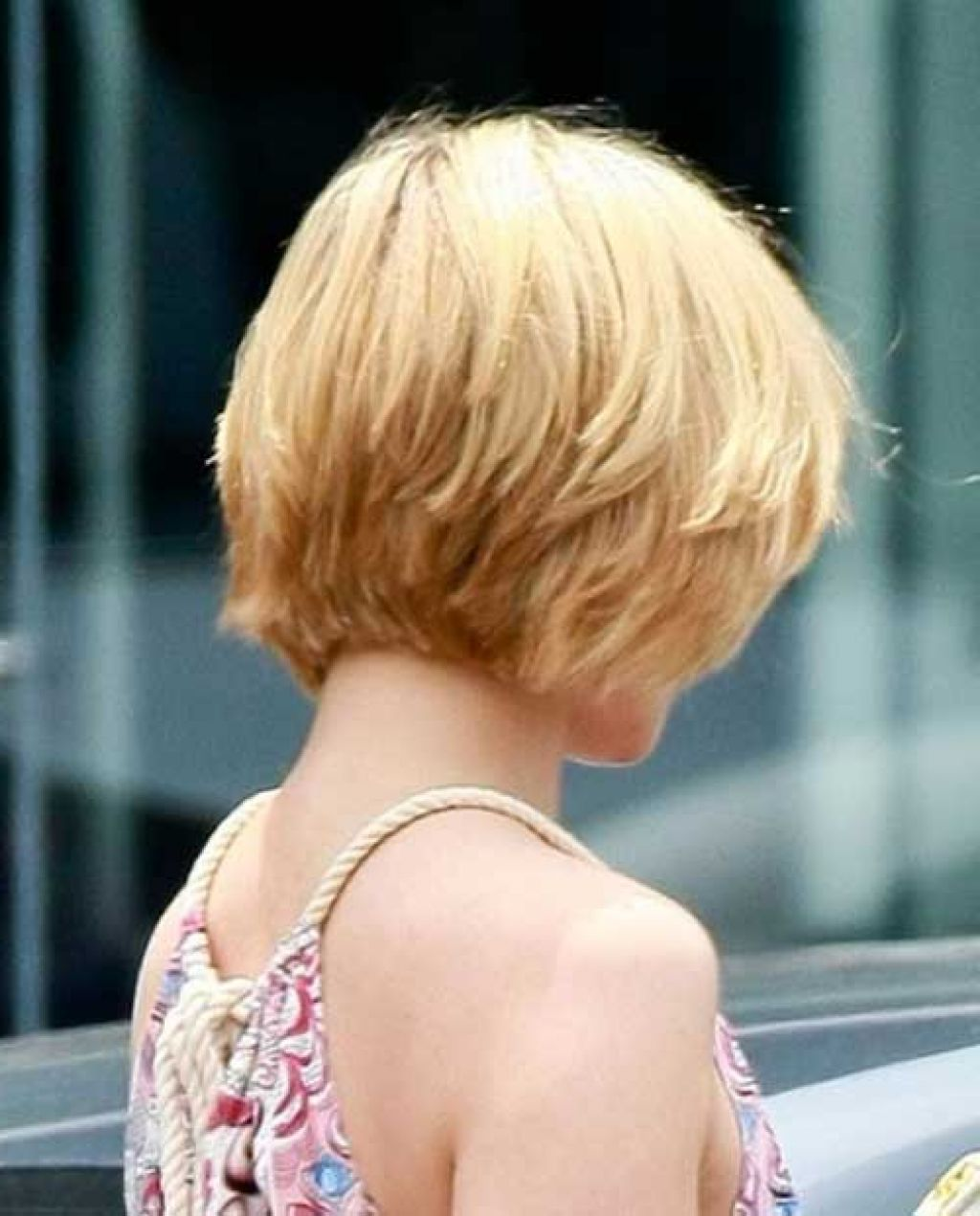 Back view of stacked bob haircut - Short Layered Hairstyles Back View Short Layered Bob Hairstyles Back View Stacked