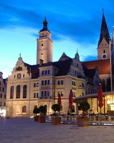 Rathausplatz Ingolstadt city where I went to high school