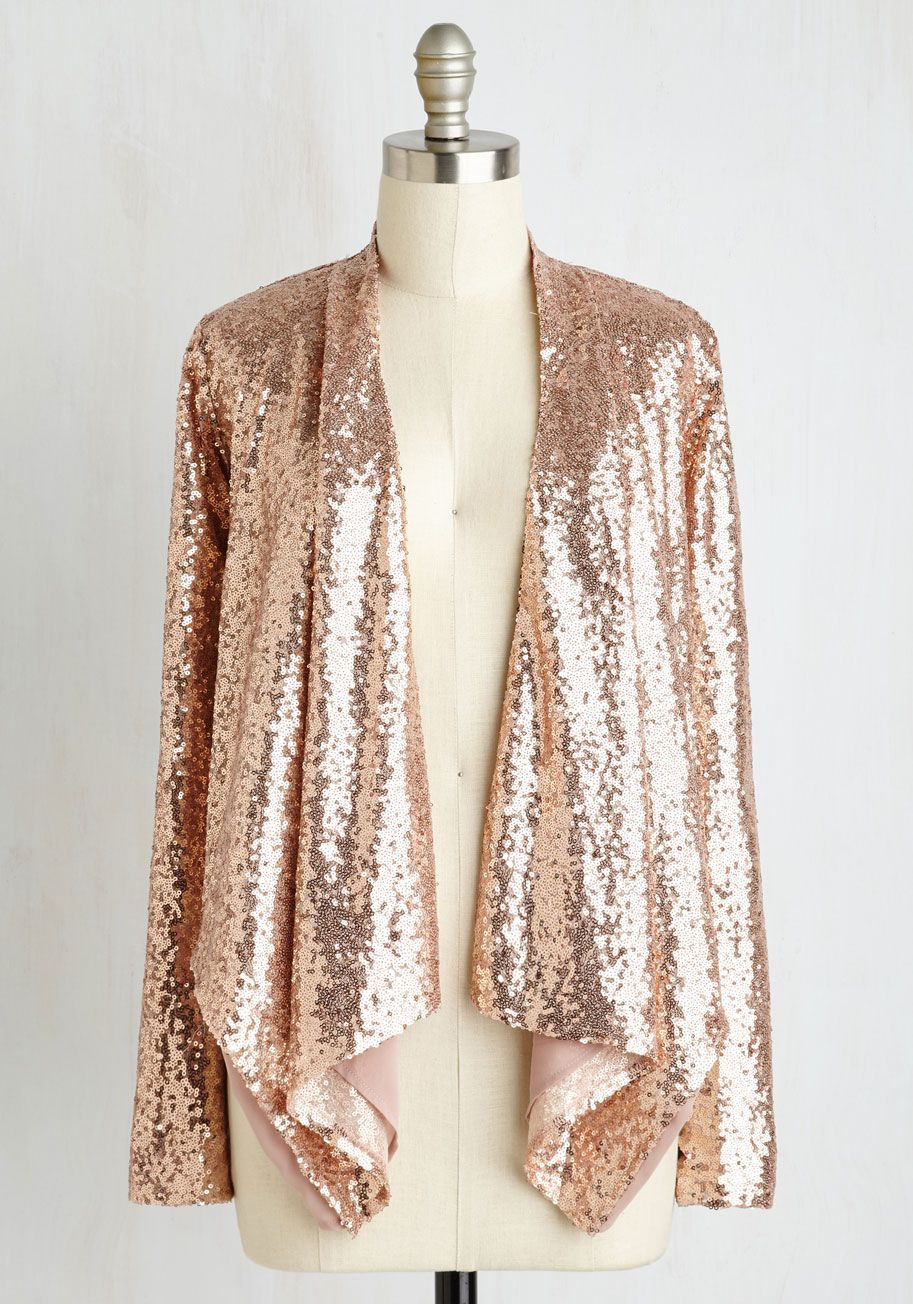 39d4a8fbba174 Glam of Action Jacket in Rose. Let the glittering allure of this pink jacket  inspire the evenings agenda!  pink  modcloth