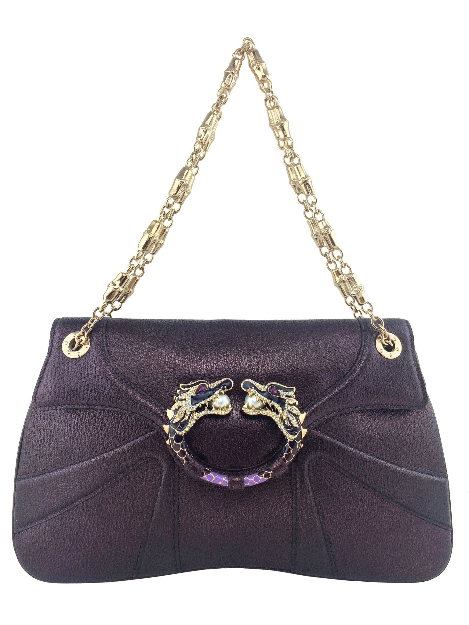 ffd22e20736 Gucci Limited Edition Tom Ford Leather Jeweled Dragon Bag