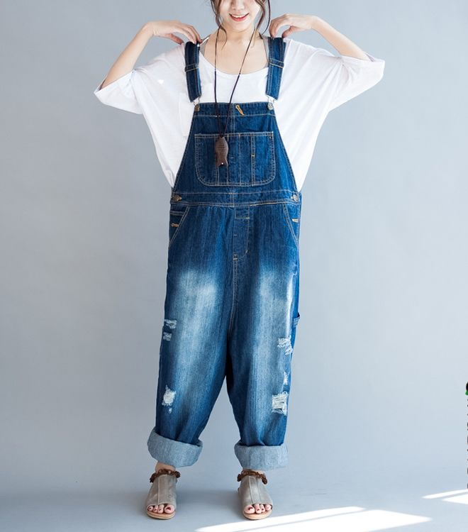 62ae5dabfb3 Baggie Overall Jeans Overall Street Style Jeans Overalls Outfit
