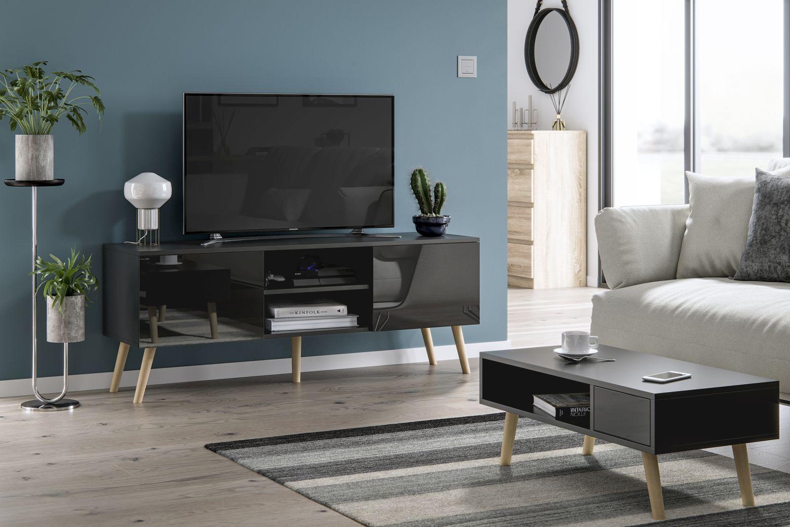 Scandinavian Style Living Room Set Tv Cabinet Coffee Table