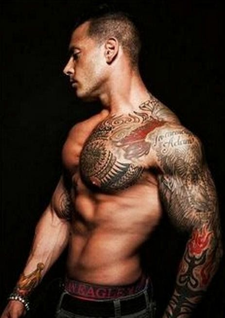 Tattoos That Look Hot on Guys, guys side tattoo, piercing tattoo ...