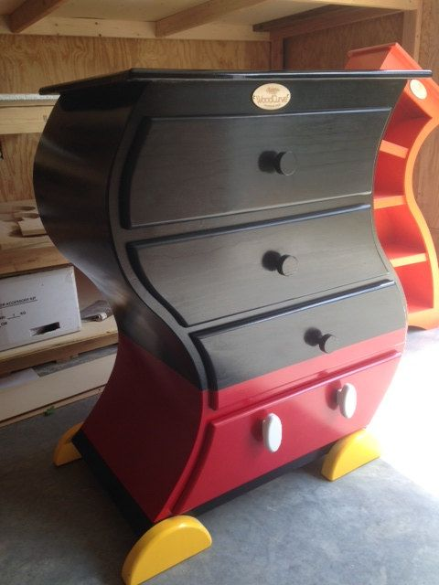 Mickey Mouse Style Chest Of Drawers   Etsy Seller Sells Curved Furniture